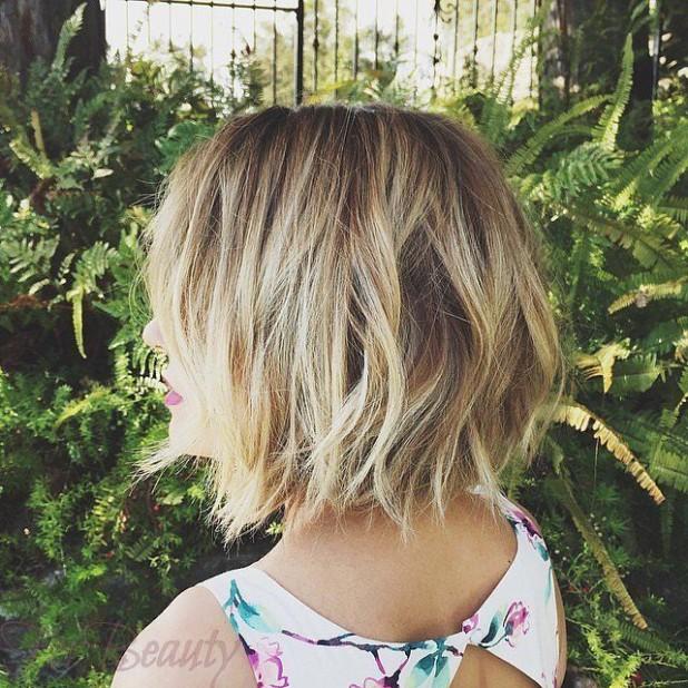 стильное окрашивание волос способомбалаяж2018 году на короткие волосы фото
