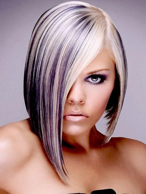 стильное 3D окрашивание коротких волос фото