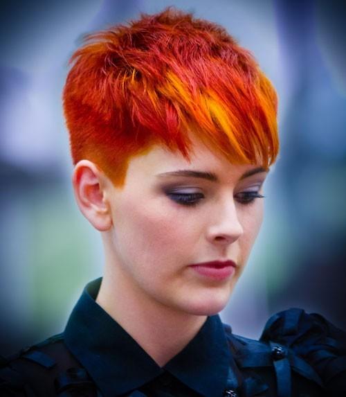 красивое 3D окрашивание коротких волос фото