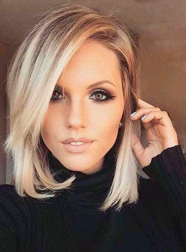 стрижка «Каре» на средние волосы с челкой 2018-2019