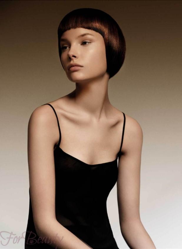 стрижка «Сессун» на средние волосы с челкой 2018