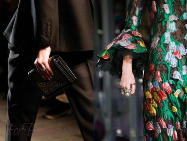 Модные кольца бижутерия 2018