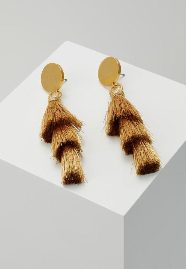 Модные серьги икаффы,трендыбижутерия 2018-2019