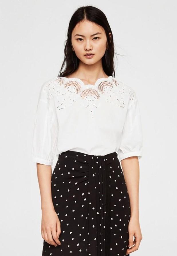 Модная белая женская блузка 2018-2019