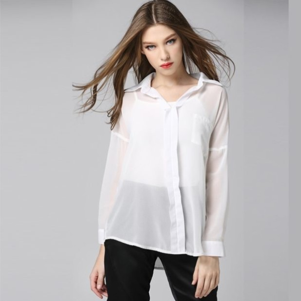 Модная шелковая блузка 2018-2019