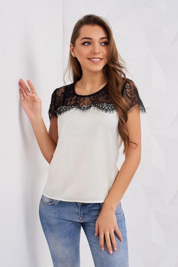 Модные белая шелковые блузки 2018-2019