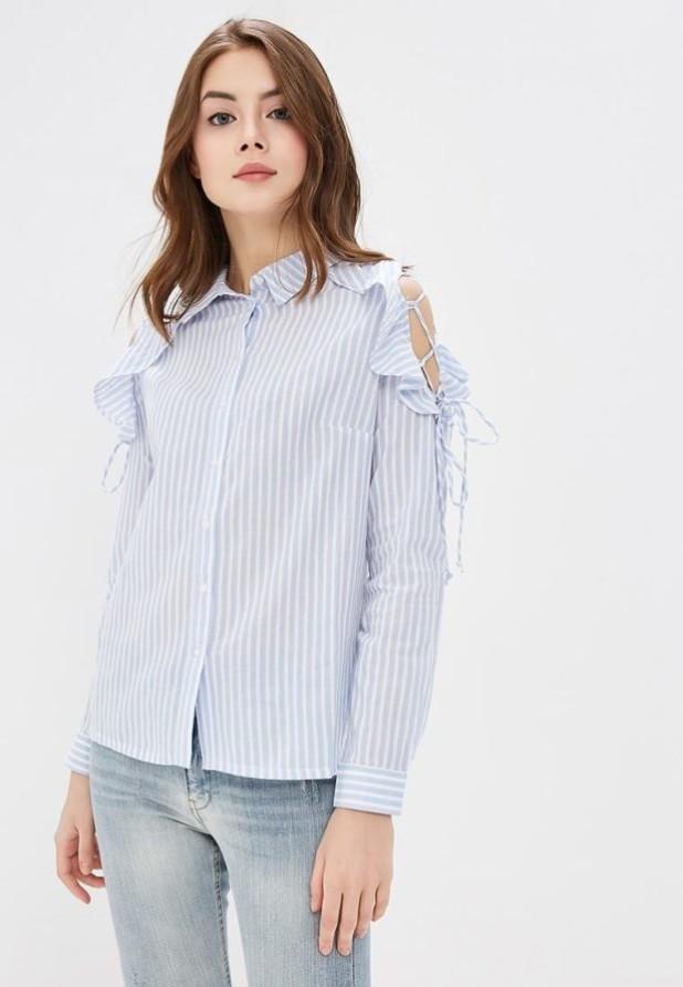 Модная блузка в полоску 2018-2019