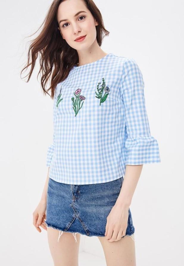 Модная блузка в клетку 2018-2019