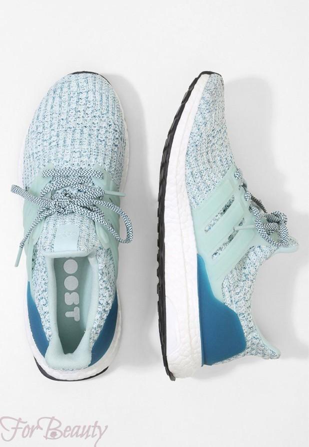 Модные голубые женские кроссовки 2018