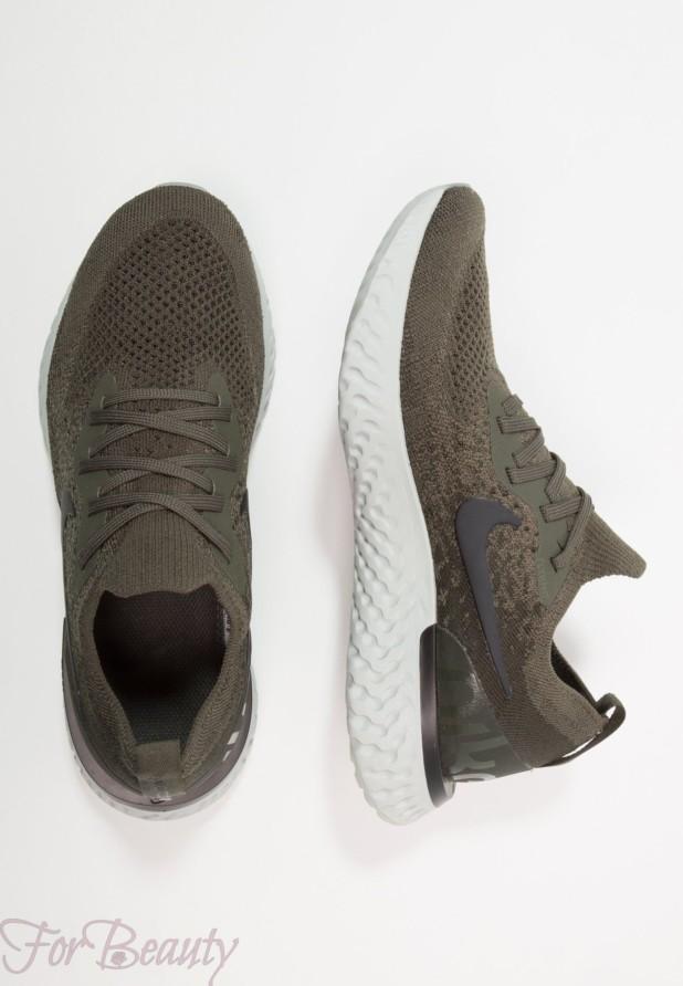 Модные зеленые женские кроссовки 2018