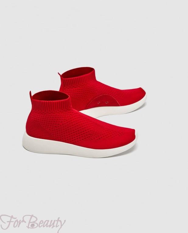 Модные красные женские кроссовки 2018