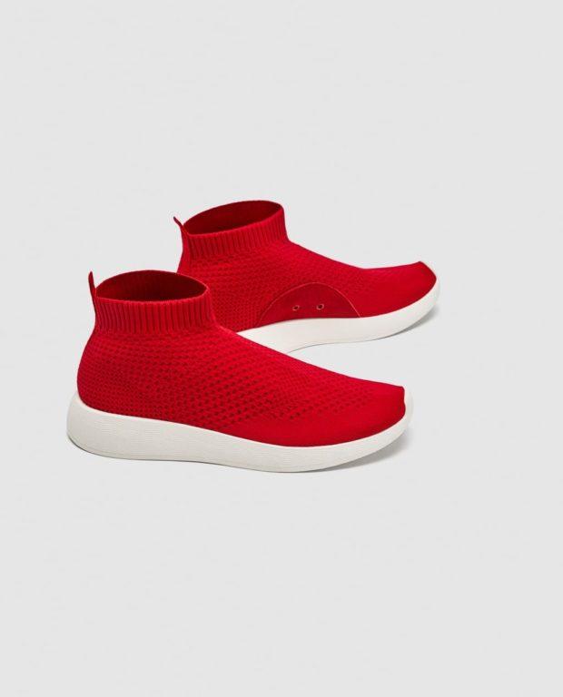 Модные красные женские кроссовки 2018-2019