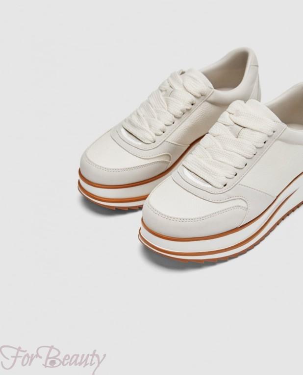 Модные белые женские кроссовки 2018