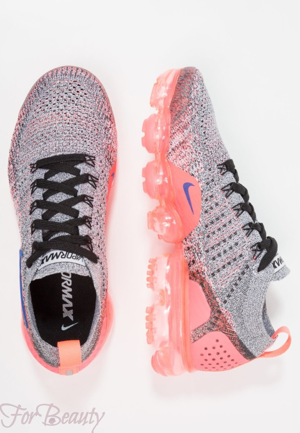 Модные серые с розовым женские кроссовки 2018
