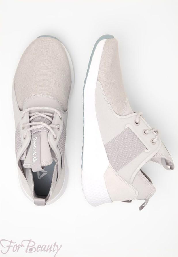 Модные серые женские кроссовки 2018