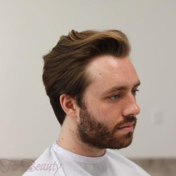 Мужская стрижка +борода 2018 2019 модные тенденции фото новинки на круглое лицо