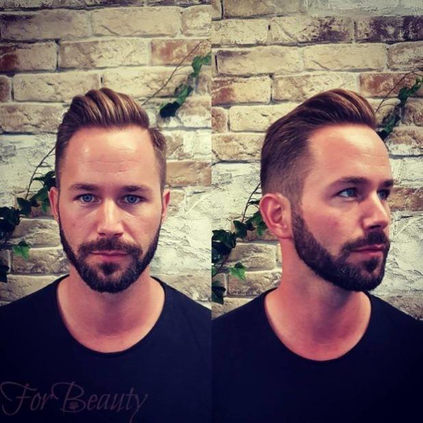 Мужская стрижка +борода 2018 2019 модные тенденции фото новинки на овальное лицо
