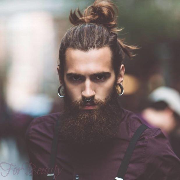 Мужская стрижка +борода 2018 2019 модные тенденции фото новинки треугольное лицо