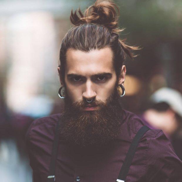 Мужская стрижка +борода модные тенденции фото новинки треугольное лицо