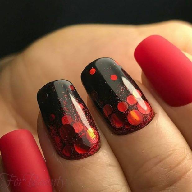 модный дизайн ногтей 2018 2019 в домашних условиях горошек