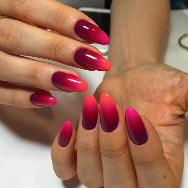 Простой и модный градиентный дизайн ногтей 2018 2019 в домашних условиях