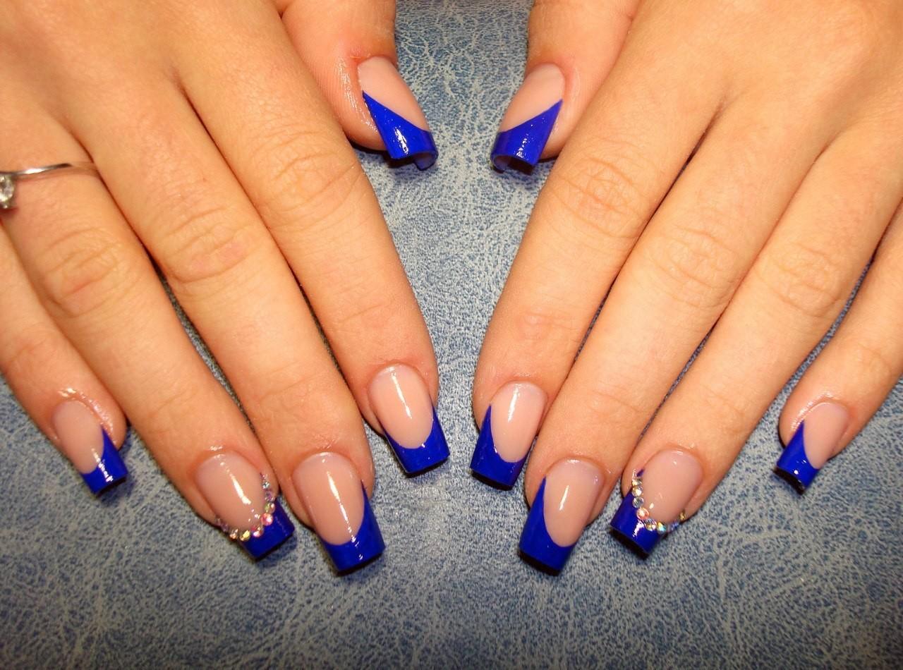 это впечатления наращивание ногтей в синем цвете фото дизайн самые