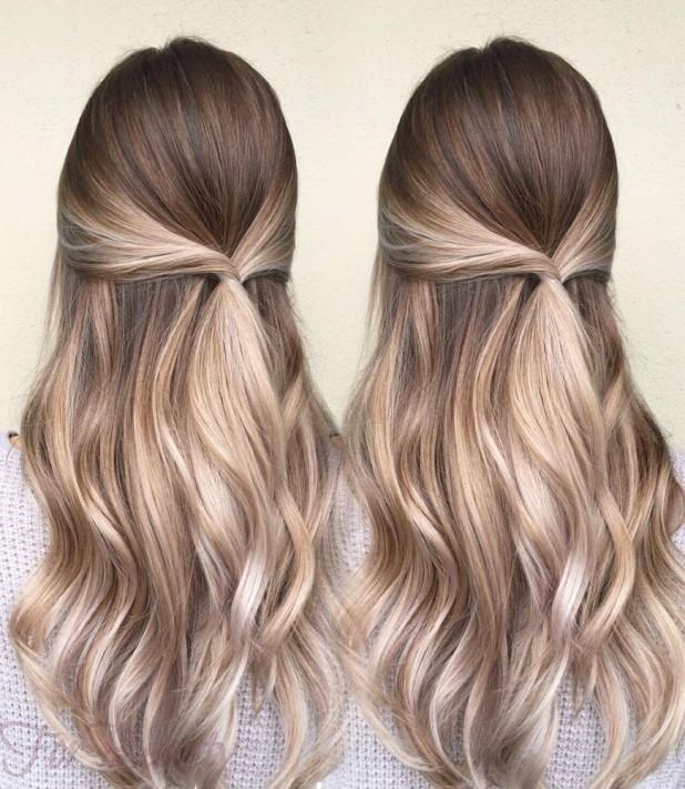 Окрашиваниебалаяжна длинные волосы