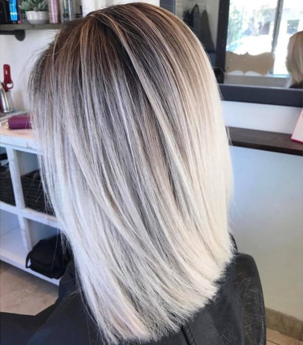 Окрашиваниебалаяжна волосы средней длины фото