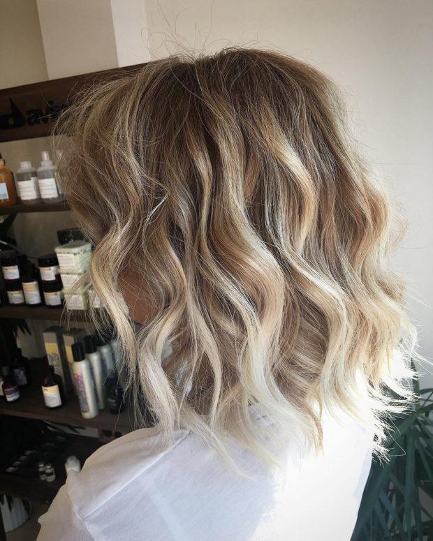 Окрашиваниебалаяжна русые волосы средней длины фото