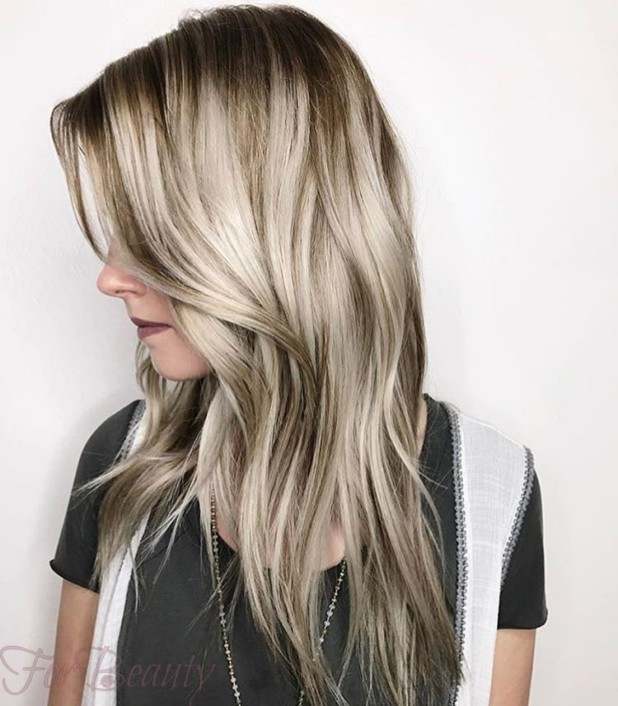 Окрашиваниебалаяжна русые волосы: оттенки фото