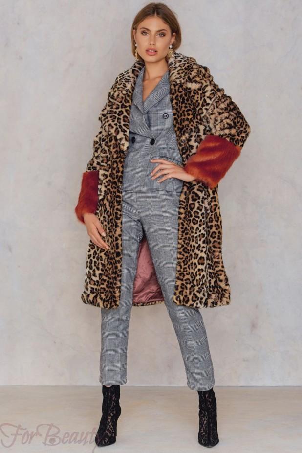 Женское пальто с меховой отделкой 2018 фото новинки