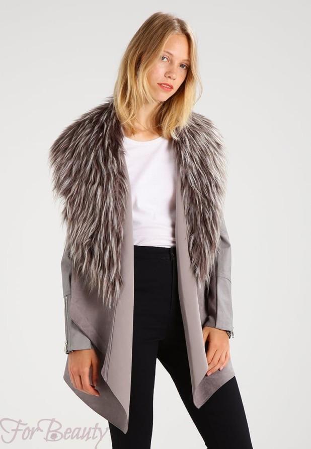 Женское классическое пальто с меховой отделкой 2018 фото новинки