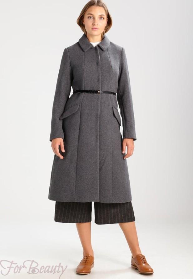 Женское пальто в стиле «Милитари» 2018 фото новинки с поясом