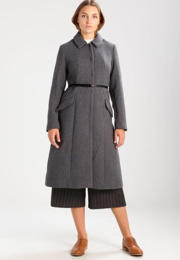Пальто 2018-2019 года: Женское в стиле Милитари с поясом