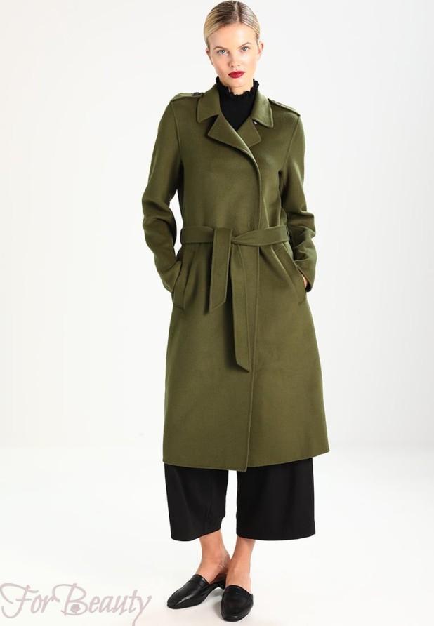 Женское модное пальто в стиле «Милитари» 2018 фото новинки