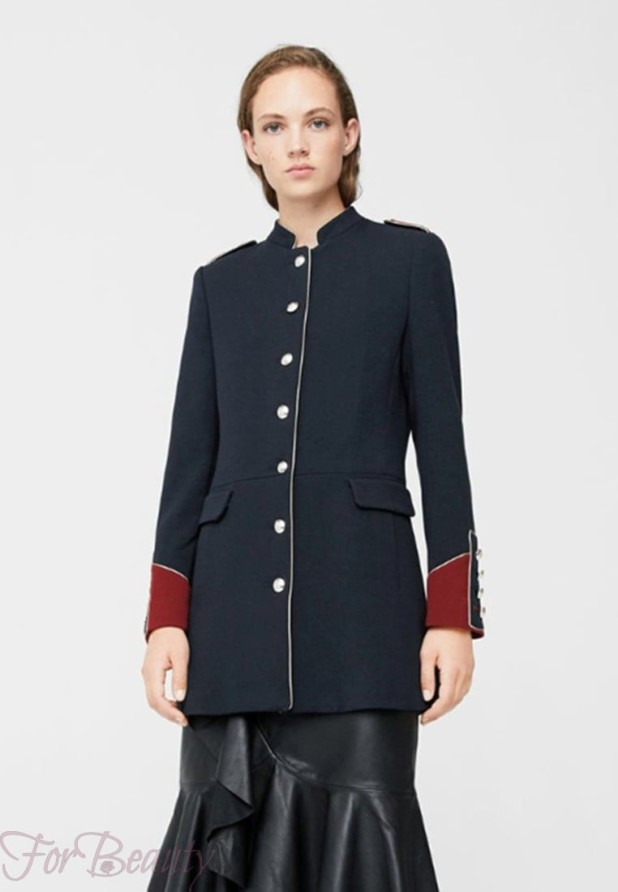 Женское модное пальто мундиры 2018 фото новинки