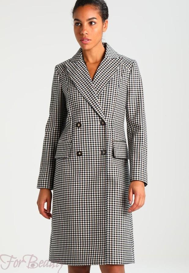 Женское модное пальто в клеточку 2018 фото новинки