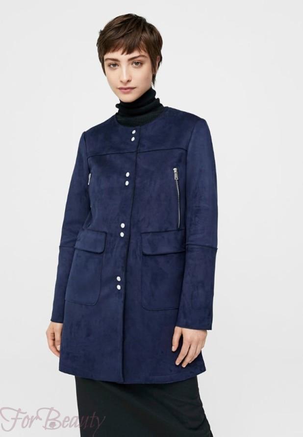 Женское модное пальто из замши 2018 фото новинки