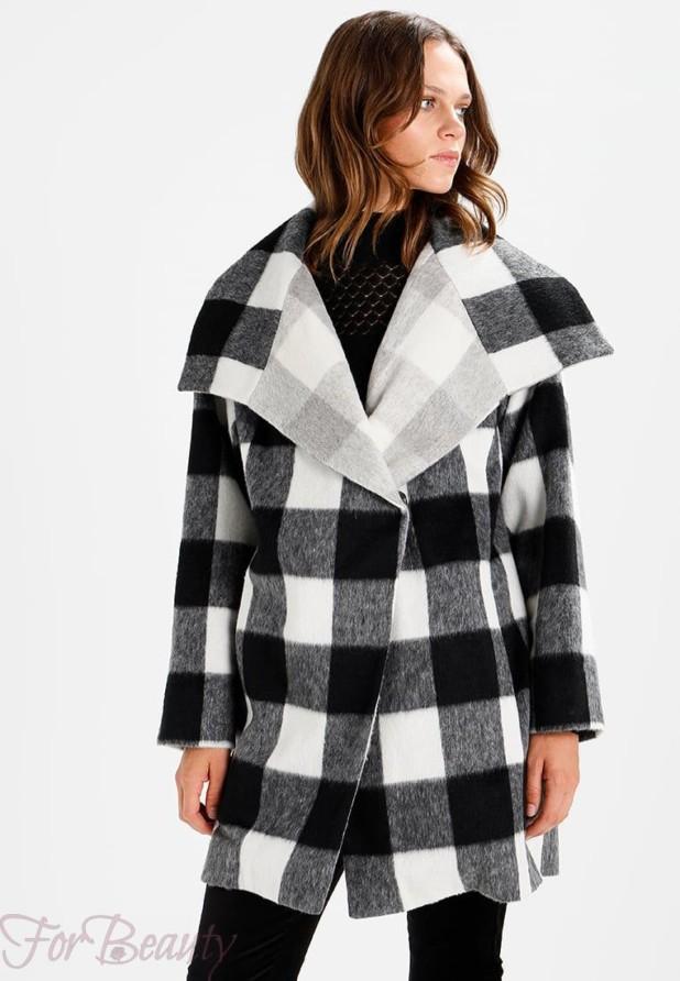 Женское пальто в крупную клеточку 2018 фото новинки