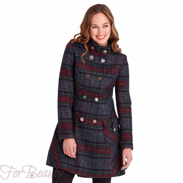 Женское стильное пальто в клеточку 2018 фото новинки