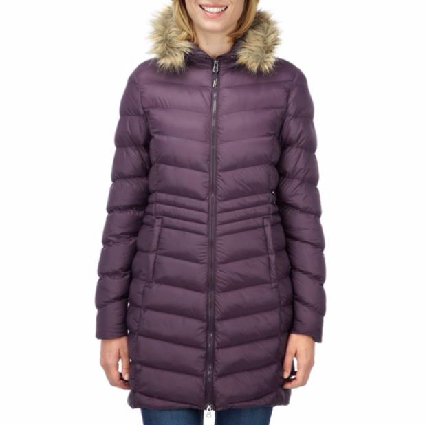 женское пальто: пуховик с мехом