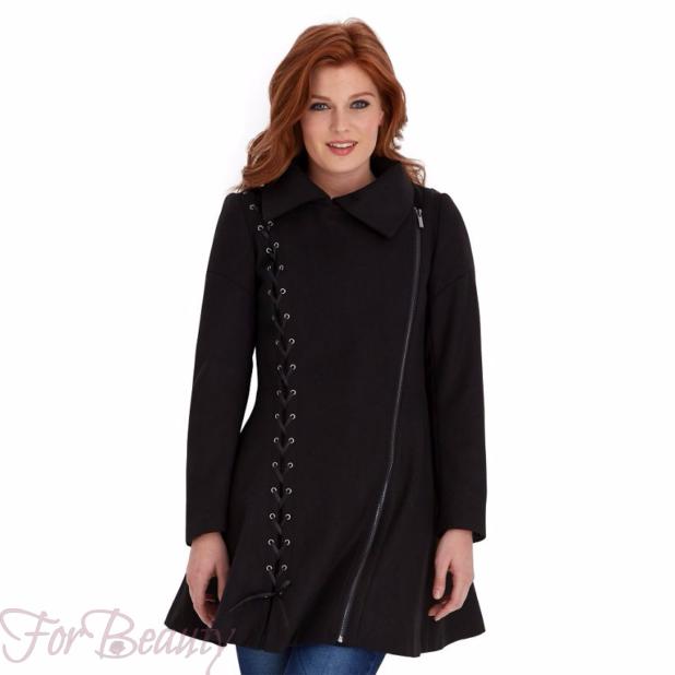 Женское модное черное пальто 2018 фото новинки