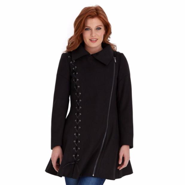 пальто: Женское модное черное