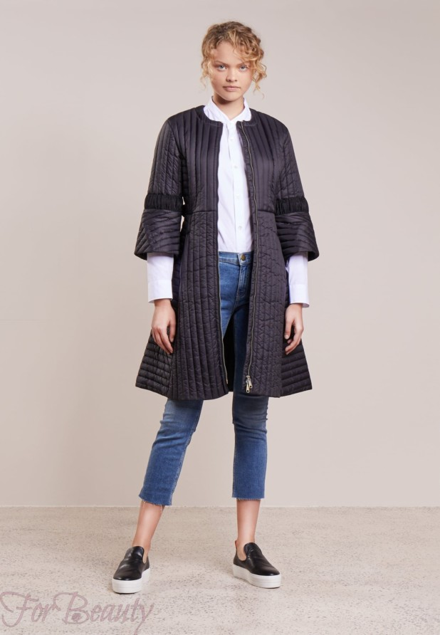 Женское пальто с рукавами три четверти 2018 фото новинки