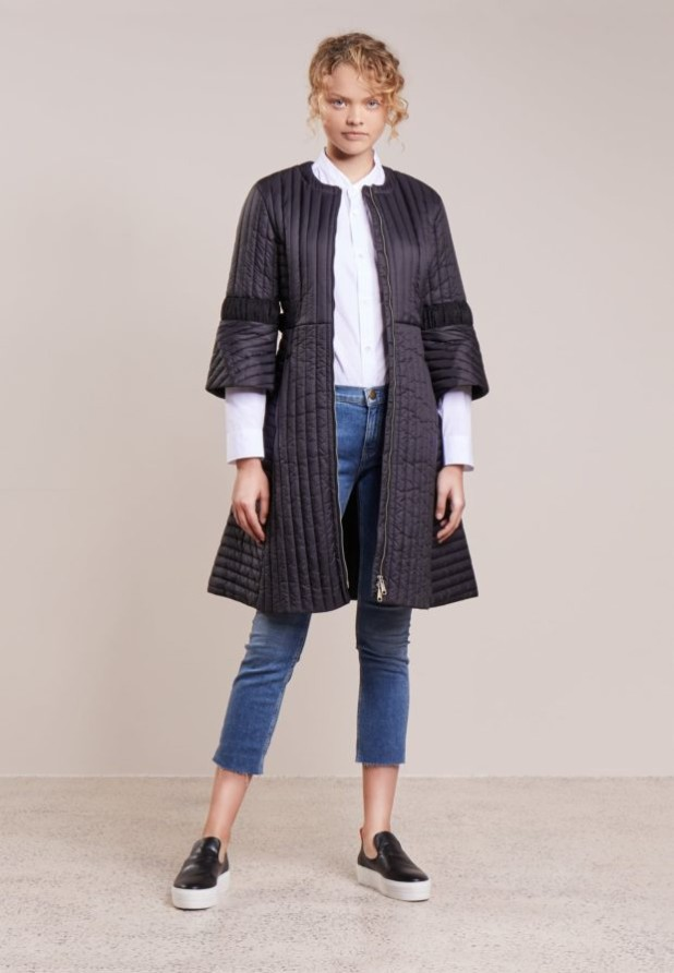 пальто модные тенденции: Женское с рукавами три четверти