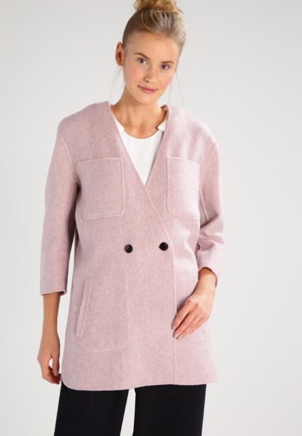 пальто модные тенденции: Женское с рукавами три четверти розовое