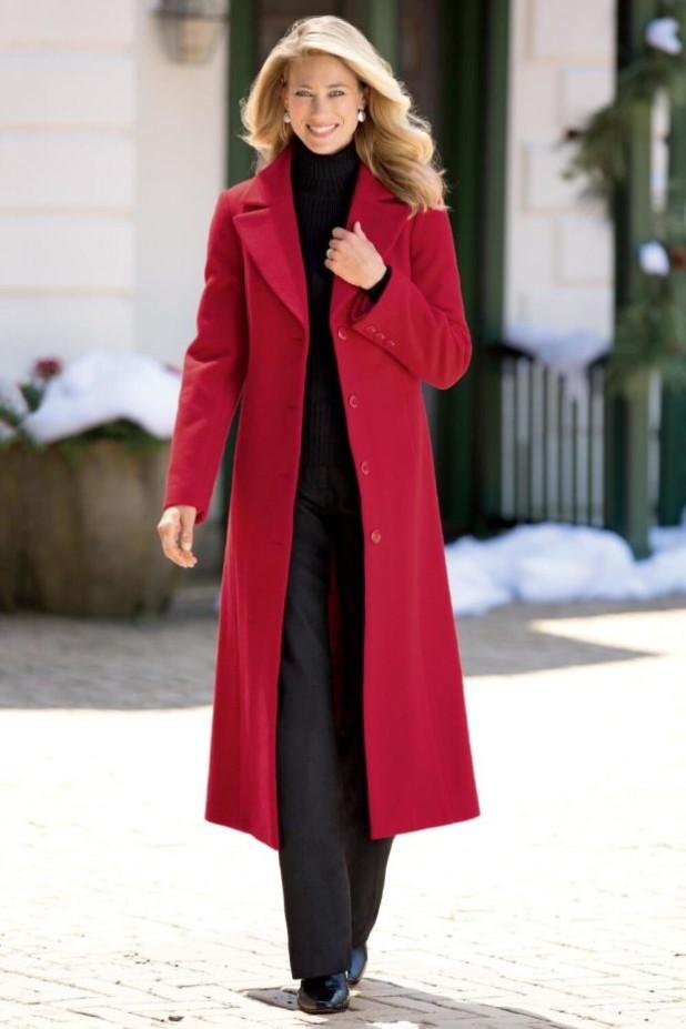 пальто модные тенденции: Женское длинное
