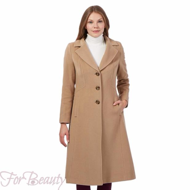 Классическое светлое женское пальто 2018 фото новинки