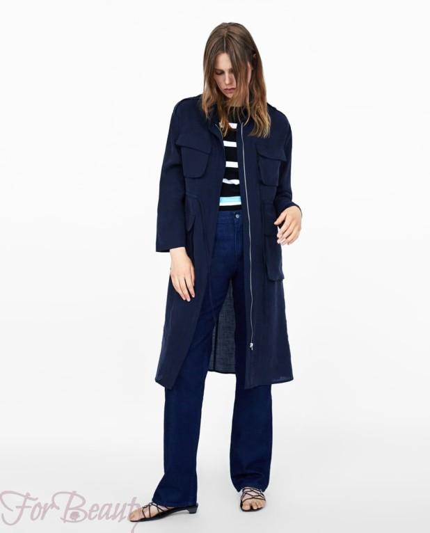 Пальто синее 2018 года