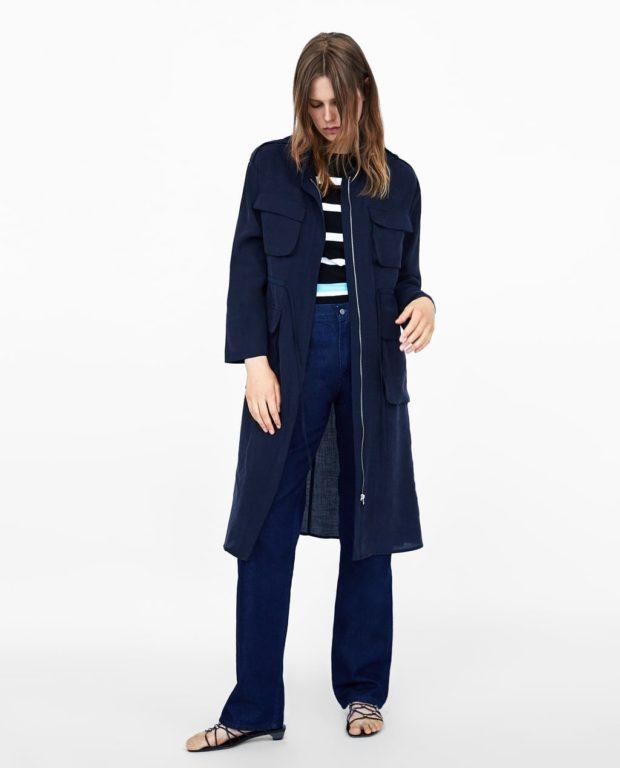 Пальто 2020: синее